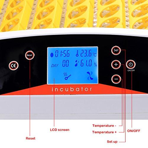 Buyi-World 56 Eier Inkubator Vollautomatische Flächenbrüter Brutmaschine Brutkasten Brutapparat - 4
