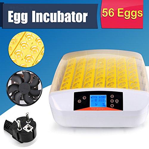 Buyi-World 56 Eier Inkubator Vollautomatische Flächenbrüter Brutmaschine Brutkasten Brutapparat - 7